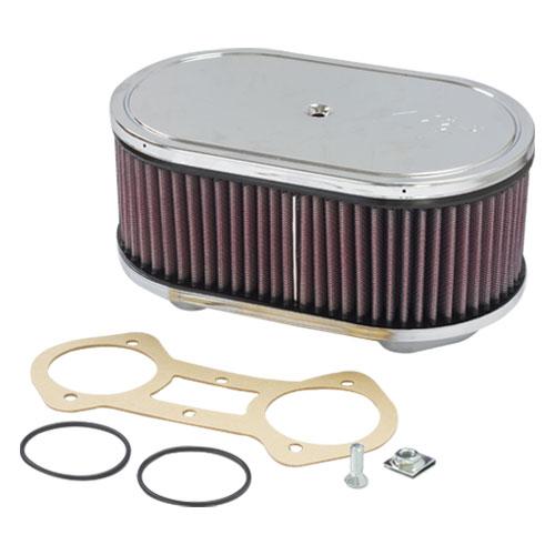 K/&N 56-1210 Custom Racing Air Filter Assembly Kit for Weber Carburetors
